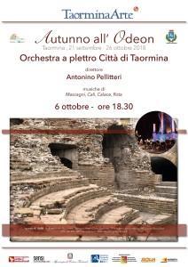 Taormina (Me). Autunno all'Odeon con l'orchestra a plettro Città di Taormina.