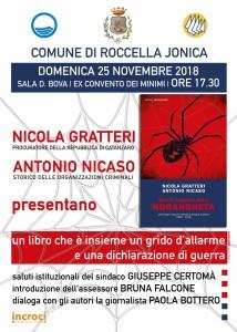 """Roccella Jonica (Rc). Domenica 25 novembre si presenta il nuovo libro di Nicola Gratteri ed Antonio Nicaso """"Storia segreta della 'Ndrangheta"""""""