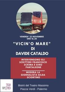 """Palermo. La poesia che narra la vita, piena di amore per la bellezza che le è propria. """"Vicin'o mare"""", il primo libro di Davide Cataldo."""
