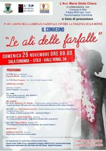 """Stilo (Rc).  """"Le ali delle farfalle"""", convegno contro la violenza sulle donne domenica 25 novembre."""