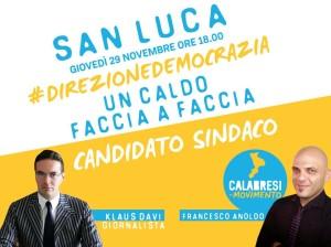San Luca (Rc). Klaus Davi e Francesco Anoldo (CiM): serrato dibattito politico per la svolta democratica del paese.
