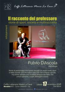 Bovalino (Rc). Il racconto del professore di Fulvio D'Ascola al Caffè Letterario Mario La Cava.