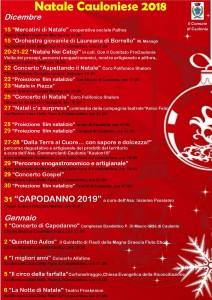 Natale a Caulonia (Rc). Un mese di spettacoli, cultura e tradizioni