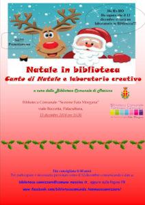 """Messina. """"Natale in Biblioteca"""": giovedì 13 laboratorio di lettura per bambini alla biblioteca comunale."""