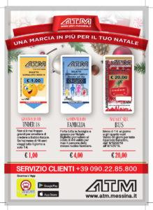 Messina. Atm: nuove tipologie di biglietti per il periodo natalizio.