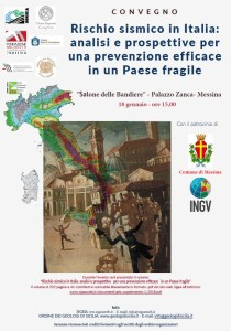 Messina. Convegno sul rischio sismico in Italia: appuntamento venerdì 18 a Palazzo Zanca.