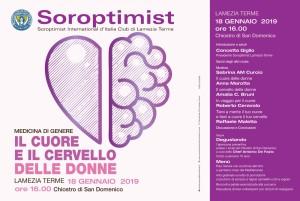 """Lamezia Terme (Cz). Il Soroptimist promuove un Incontro sulla medicina di genere: """"Il cuore e il cervello delle donne""""."""