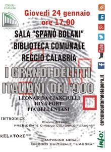 Reggio Calabria. Conferenza giovedì 24 gennaio sui grandi delitti del Novecento