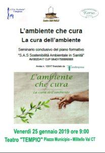 """Militello (CT). """"L'Ambiente che cura – La cura dell'ambiente"""", congresso piano formativo S.A.S."""