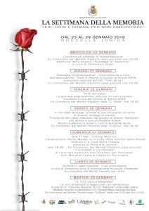 """Dal 23 al 29 gennaio Roccella Jonica (Rc) celebra la """"Settimana della Memoria"""""""