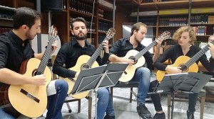 """Palermo. """"Modigliani Les Femmes Multimedia Experience"""", domenica 13 alle 11 a Palazzo Bonocore esibizione del quartetto chitarristico """"Rosa dei venti""""."""