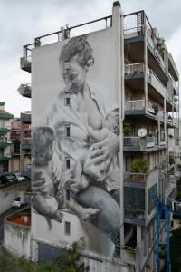 """Ragusa. FestiWall riparte da """"A sicilian mother"""": inaugurato il murale di Guido van Helten per i 40 anni dell'Avis"""