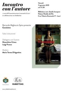 """Locri (RC): venerdì a Palazzo Nieddu la presentazione di """"Coraìsime"""", il romanzo di Bernardo Migliaccio Spina edito da Rubbettino."""