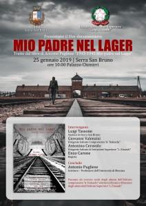 """Serra San Bruno (Vv). Scuola e Comune non dimenticano l'Olocausto: venerdì la presentazione del film documentario """"Mio padre nel lager"""""""