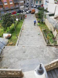 Messina. Conclusi gli interventi di pulizia e messa in sicurezza della scalinata di via Gonfalone