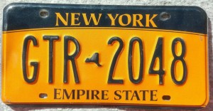 targa-auto-stato-new-york-gialla