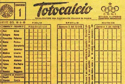SCHEDINA TOTOCALCIO SCARICA