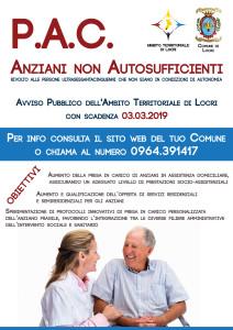 Pubblicato Avviso PAC Anziani per l'Ambito di Locri (Rc)