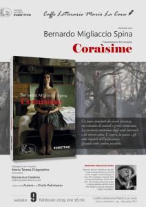 Bovalino (RC). Presentazione del romanzo Coraìsime di Bernardo Migliaccio Spina