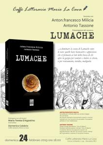 Bovalino (RC). Presentazione del romanzo Lumache di Anton.francesco Milicia e Antonio Tassone