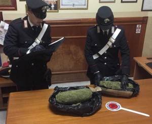 Rosarno (Rc). Carabinieri: due arresti per detenzione ai fini di spaccio di sostanze stupefacenti.