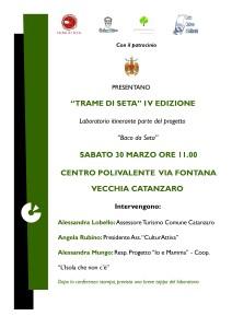 """Catanzaro. La promozione del patrimonio locale con il laboratorio itinerante """"Trame di Seta"""""""