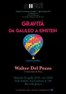 """Roccella jonica (Rc). Associazione Culturale Scholé : """"Gravità. Da Galileo a Einstein"""""""