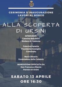 Caulonia (Rc). Lavori al borgo di Ursini, domani sabato 13 aprile cerimonia d'inaugurazione con il governatore Oliverio