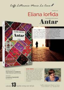 Bovalino (Rc). Presentazione del romanzo Antar di Eliana Iorfida.