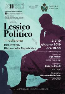 """Roccella Jonica (Rc). """"Lessico politico III"""", a giugno 2019 tre incontri con Mattei, Finelli, Bellofiore"""