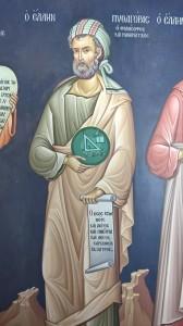 Soverato (Cz). Una inedita immagine del filosofo Pitagora scoperta in una meteora monastica della Grecia
