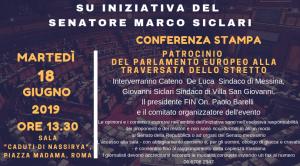 Villa S. Giovanni (Rc). Traversata dello Stretto, in conferenza stampa al Senato sara' riconosciuto all'evento il Patrocinio del Parlamento Europeo