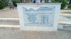 Isola delle Femmine (PA). Vandalizzata la lapide che ricorda le vittime del mare. La denuncia di BCsicilia.