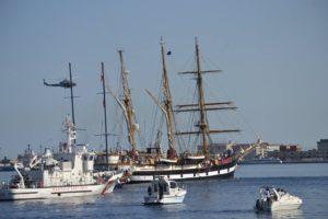 La nave Palinuro il 3 agosto a Messina per partecipare alla XI edizione della Rievocazione Storica della Battaglia di Lepanto