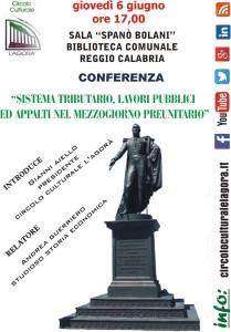 Reggio Calabria. Conferenza sulle politiche economiche del Regno delle Due Sicilie