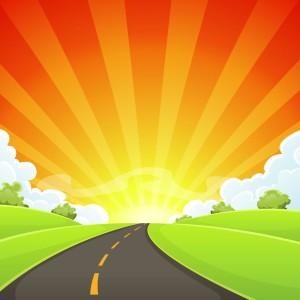 13-strada-della-vita-con-sole-splendente