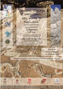 Monasterace (RC). Mosaico dei draghi e dei delfini, esposizione temporanea