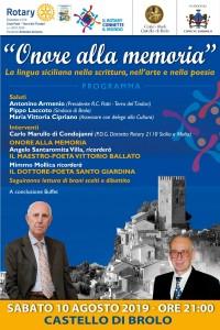 """Brolo (Me). """"Onore alla memoria"""", omaggio del Rotary a due grandi poeti"""