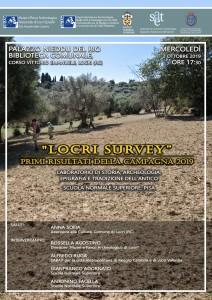 Locri Survey, Palazzo Nieddu Del Rio Biblioteca comunale Locri (Reggio Calabria)