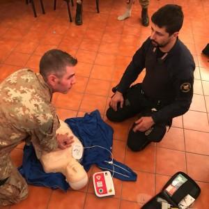 Reggio Calabria: il Corso B.L.S.D. (Basic Life Support Defibrillation) per gli operatori dell'Aliquota Primo Intervento dell'Arma e militari del Nucleo Investigativo.
