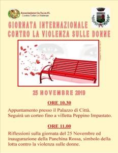 Giornata contro violenza sulle donne, iniziative a Campofelice di Roccella (Pa)