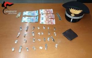 Reggio Calabria. A bordo dell'autovettura con della cocaina. Arrestato dai carabinieri.