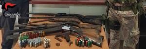Reggio Calabria. 800.000,00 Euro di droga sottratti alla criminalità. Trovati 6 fucili ed 1 pistola occultati tra il fogliame.