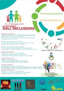 Garanti per l'Infanzia e la Persona Disabile. Bovalino 21- 27 Novembre 2019 – settimana del'inclusione