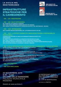 """Messina. """"La Sicilia nel Mediterraneo-Infrastrutture strategiche per il cambiamento"""", sabato 23 a Palazzo Zanca"""