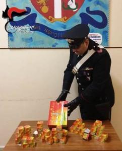 Calabria. Controlli agro-alimentari e contrasto al commercio illegale di artifizi pirotecnici dei carabinieri di Taurianova (Rc).