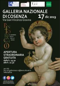 Cosenza. Apertura straordinaria della Galleria nazionale – Palazzo Arnone