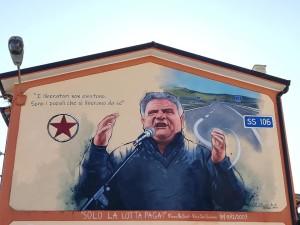 """Badolato (Cz). Un """"murales"""" in piazza Tropeano in memoria di Franco Nisticò"""