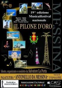 """Messina. Alle 19.00 di stasera il via al MusicalFestival """"Pilone d'Oro"""" di Salvatore La Porta. Diretta FB su CostaJonica WebTv"""