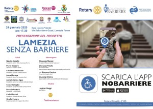 Lamezia (Cz) senza barriere, presentazione progetto Rotary Club Lamezia Terme